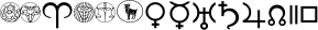 Astrology font preview