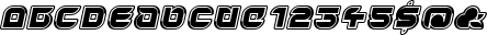Yr 72 Inline Italic font detailed sample