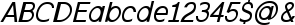 Excite Italic font detailed sample